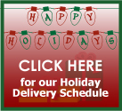 Holiday Delivery Schedule